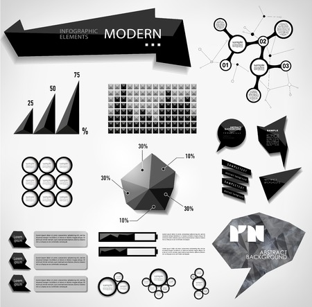 Modern elements of info graphics. World Map  Information Graphicsabstract modern bubble Vector