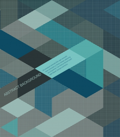 Abstract Background retro mosaic brochure or banner