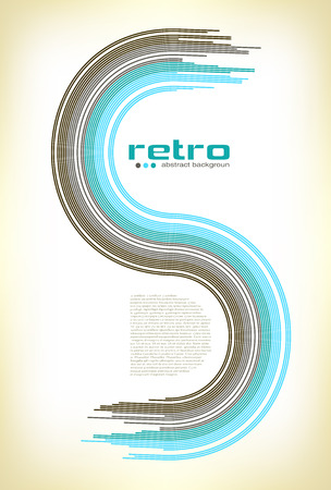 abstract retro disco background - vector. Vector