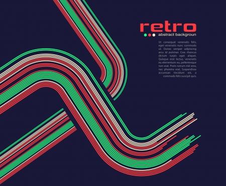 abstract retro disco background - vector. Illustration
