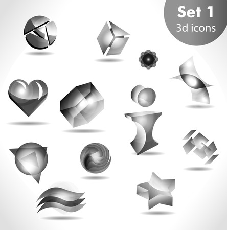 black white icon set  Vector
