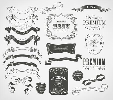 calligraphic design elements and page decoration Banco de Imagens - 23761953