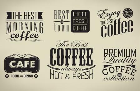 Retro  typography, coffee shop, cafe, menu   Stock Vector - 23762190