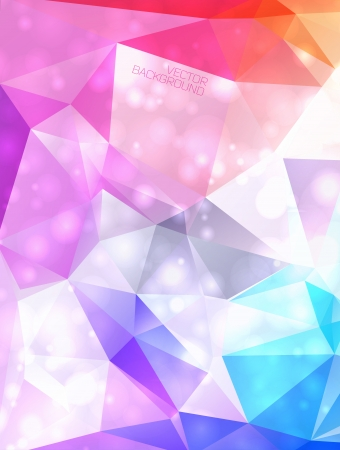 diamond background: Abstract colorful background with polygons.