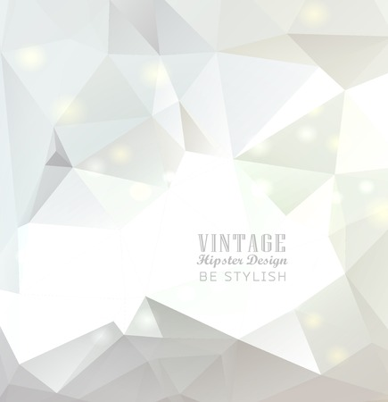 Abstract white  colorful polygonal background Vector