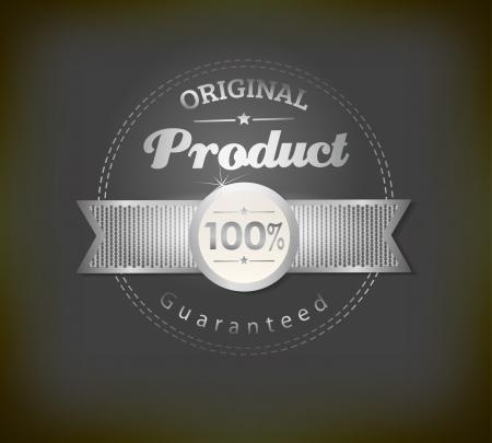 sale banner: Vintage Label with ribbon, retro vintage styled design
