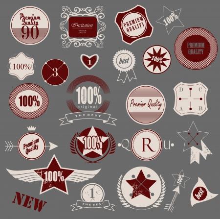 Set of retro vintage labels. Vector illustration. Vector