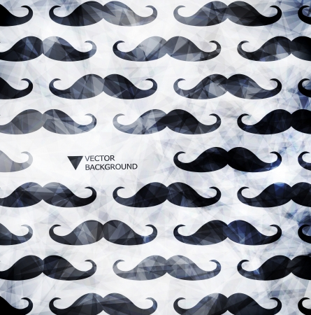Mustache background in modern styleDesign modern template can be used for brochure, banners or website layout vector. Vector