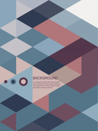 Abstract Book cover Background designretro mosaic brochure Vector