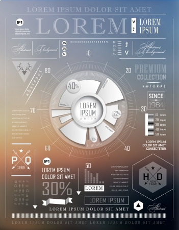 achieving: Modern elements of info graphics