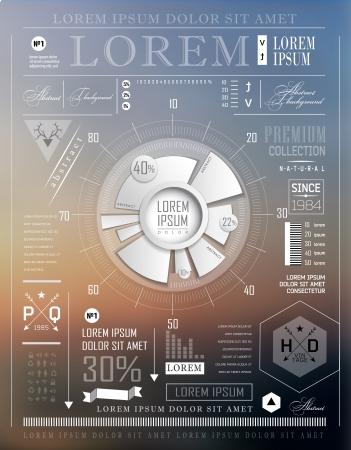 Moderne Elemente von Infografiken Standard-Bild - 23823772