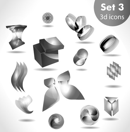 black white icon set  for wesite, info graphic Vector