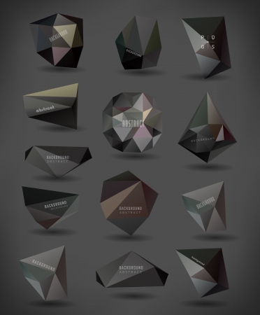 abstract modern crystal black Label, bubble , can be used for website, info-graphics, banner.