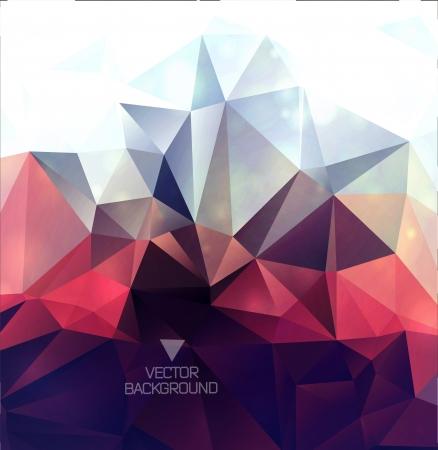 forme geometrique: Résumé polygonale fond  fond triangles Illustration
