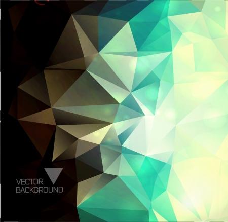 Abstrakten bunten Hintergrund polygonalen / Dreiecke Hintergrund für Ihr Design / Vektor-Illustration Standard-Bild - 23821056