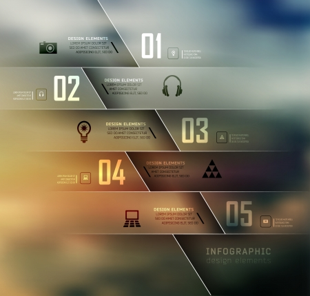 Blur business steb options banner. Vector illustration. can be used for , diagram, number options, step up options, web template, infographics. Blur, shadows background Vector