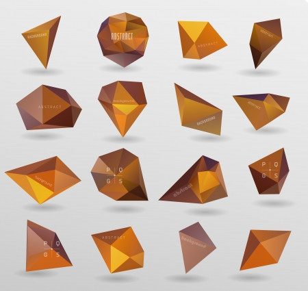 triangle pattern: abstract modern orange Label, bubble , can be used for website, info-graphics, banner. Illustration
