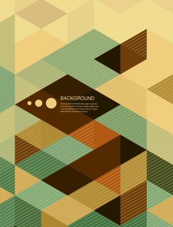 abstrato: Abstract design da tampa de livro Fundamentos  brochura retro mosaico