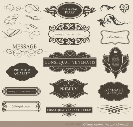 bordes decorativos: elementos caligráficos del diseño y la decoración de la página