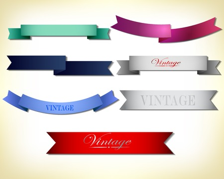 scrap trade: set retro ribbons and label  collection