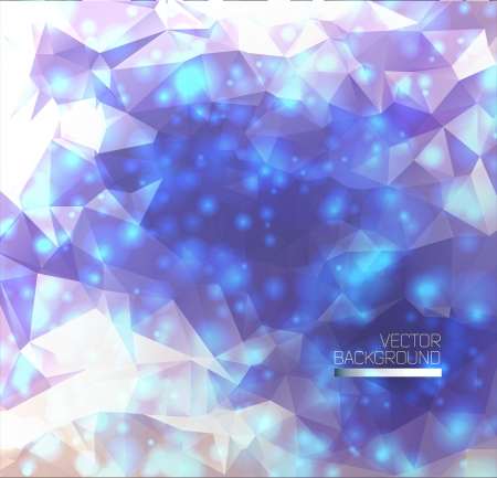 Abstract light background with polygons.