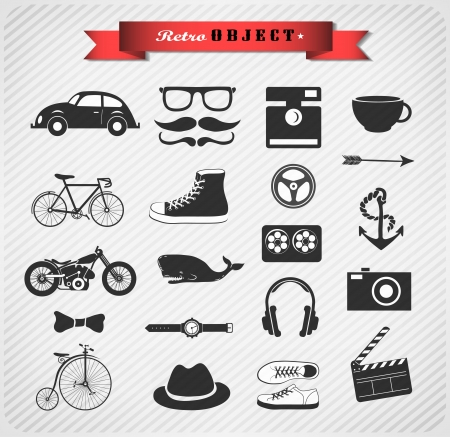 Hipster style info graphic element and icon //Vector illustration Stock Vector - 24466631