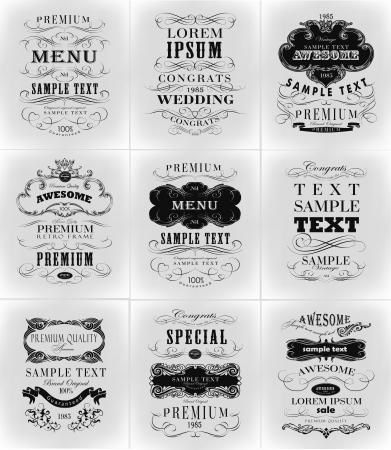 Qualità Premium, tipografia Garanzia disegno vettoriale