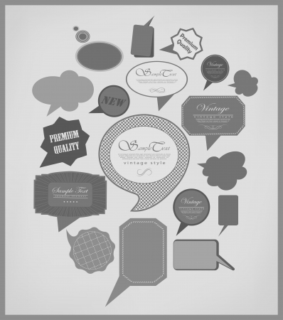 The new retro speech bubblessigns collection. Vector Illustration Vector