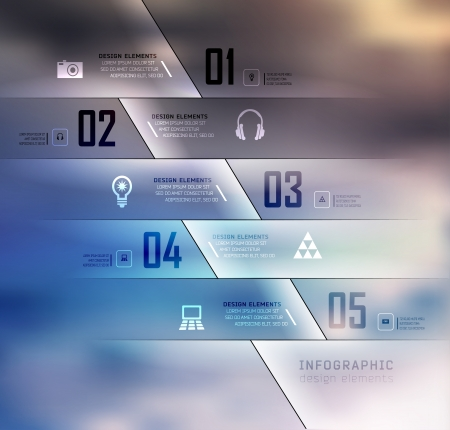 web template: Blur business steb options banner. Vector illustration. can be used for , diagram, number options, step up options, web template, infographics. Blur, shadows background