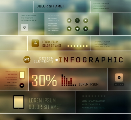 Set shadows elements  of infographics. Modern elements of info graphics. Information Graphics.  Blur, shadows