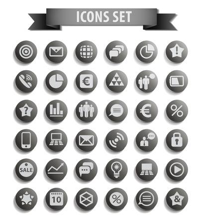 Conjunto de iconos de la web Foto de archivo - 25248954