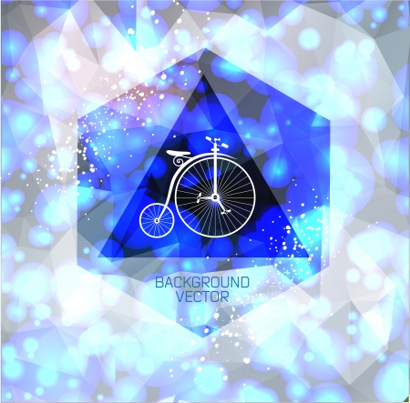 Abstract light with Hipster retro bike Illustration