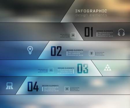 web template: Blur business steb options banner. illustration. can be used for , diagram, number options, step up options, web template, infographics. Blur, shadows