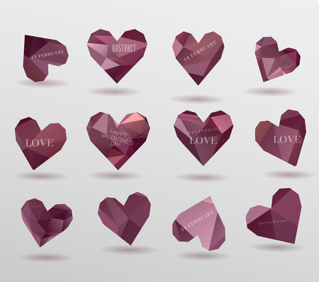 happy valentines day cards with  hearts Banco de Imagens - 25703172