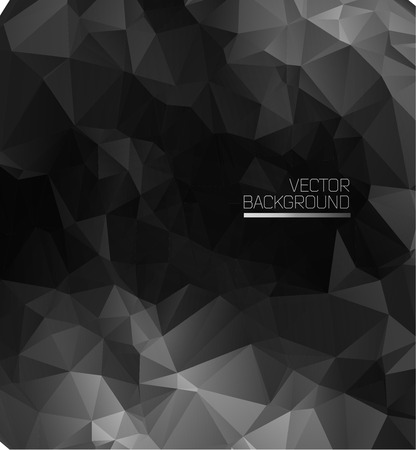 techno background: Abstract black modern with polygons. Illustration