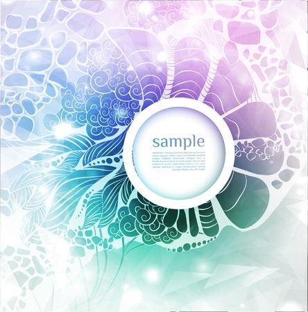 Abstract background with glas bubble. Vector illustration Illustration