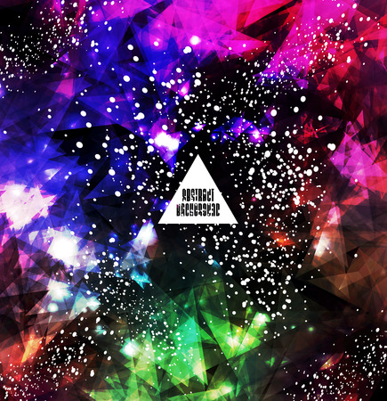 Hipster cosmic background, polygonal triangles and space background Stock Vector - 25827996