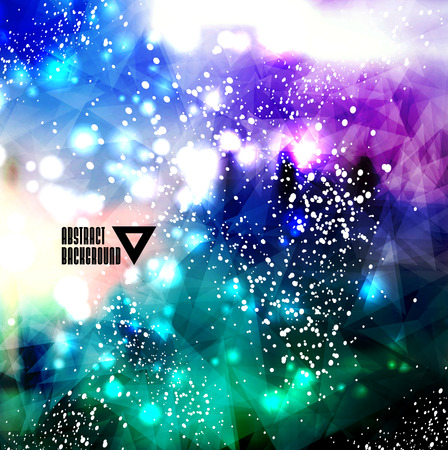 Hipster cosmic background, polygonal triangles and space background Stock Vector - 25828030