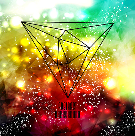Hipster cosmic background, polygonal triangles and space background Stock Vector - 25828037