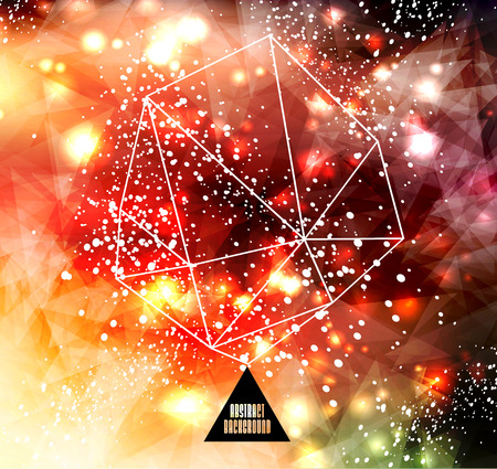 Hipster cosmic background, polygonal triangles and space background Stock Vector - 25828062