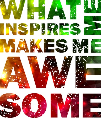 typographical: Quote Typographical galaxy design.