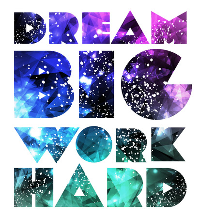 Quote Typographical galaxy design.