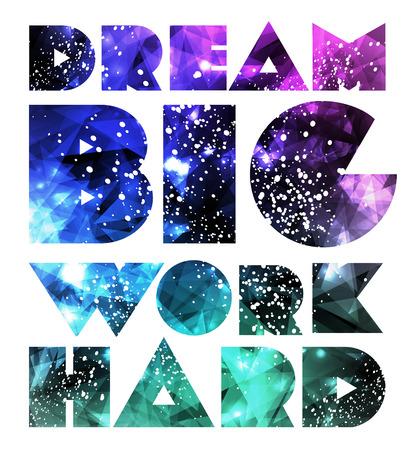 Quote Typographical galaxy design. Zdjęcie Seryjne - 26194630