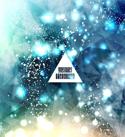 Hipster cosmic, polygonal triangles and space  Ilustração