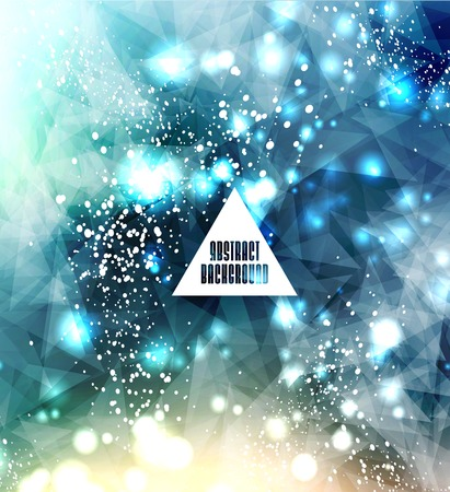 Hipster cosmic, polygonal triangles and space  Vettoriali