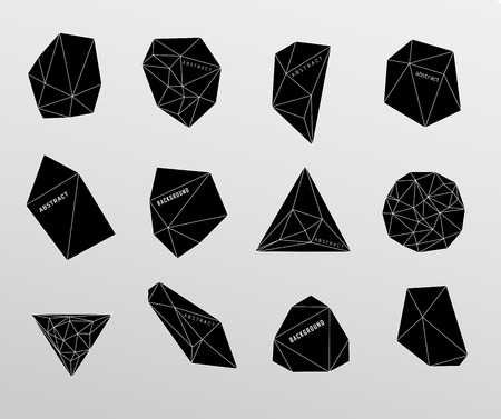 Hipster cosmic bubble and label, polygonal triangles Vector
