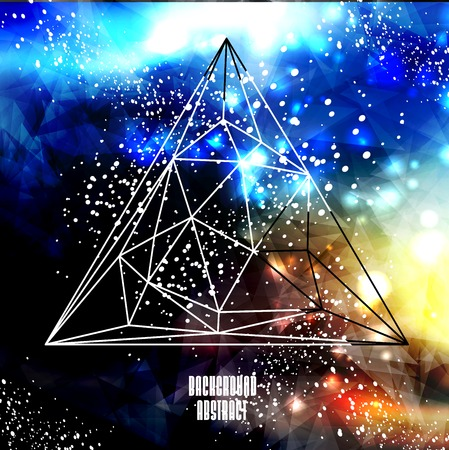 Hipster cosmic, polygonal triangles and space  Vector