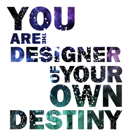 Quote Typographical galaxy Background, vector design. Vettoriali