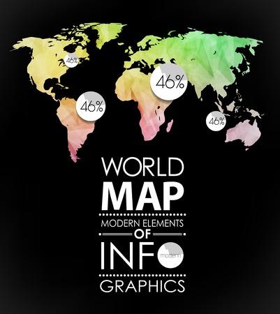 Polygonal world map card modern geometrical elements of info polygonal world map card modern geometrical elements of info graphics world map typography gumiabroncs Images