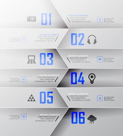 mindful: Blur business step transparent and shadows options banner. Vector illustration. can be used for , diagram, number options, step up options, web template, infographics. Blur, shadows background Illustration